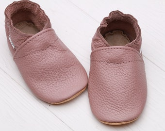 Brown Baby Shoes Leather Soft Sole Girls Crib Boys Infant Moccasins Chaussons Bebe