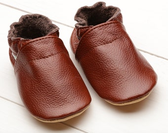 1bc3fef4481 Brown Baby Shoes Leather