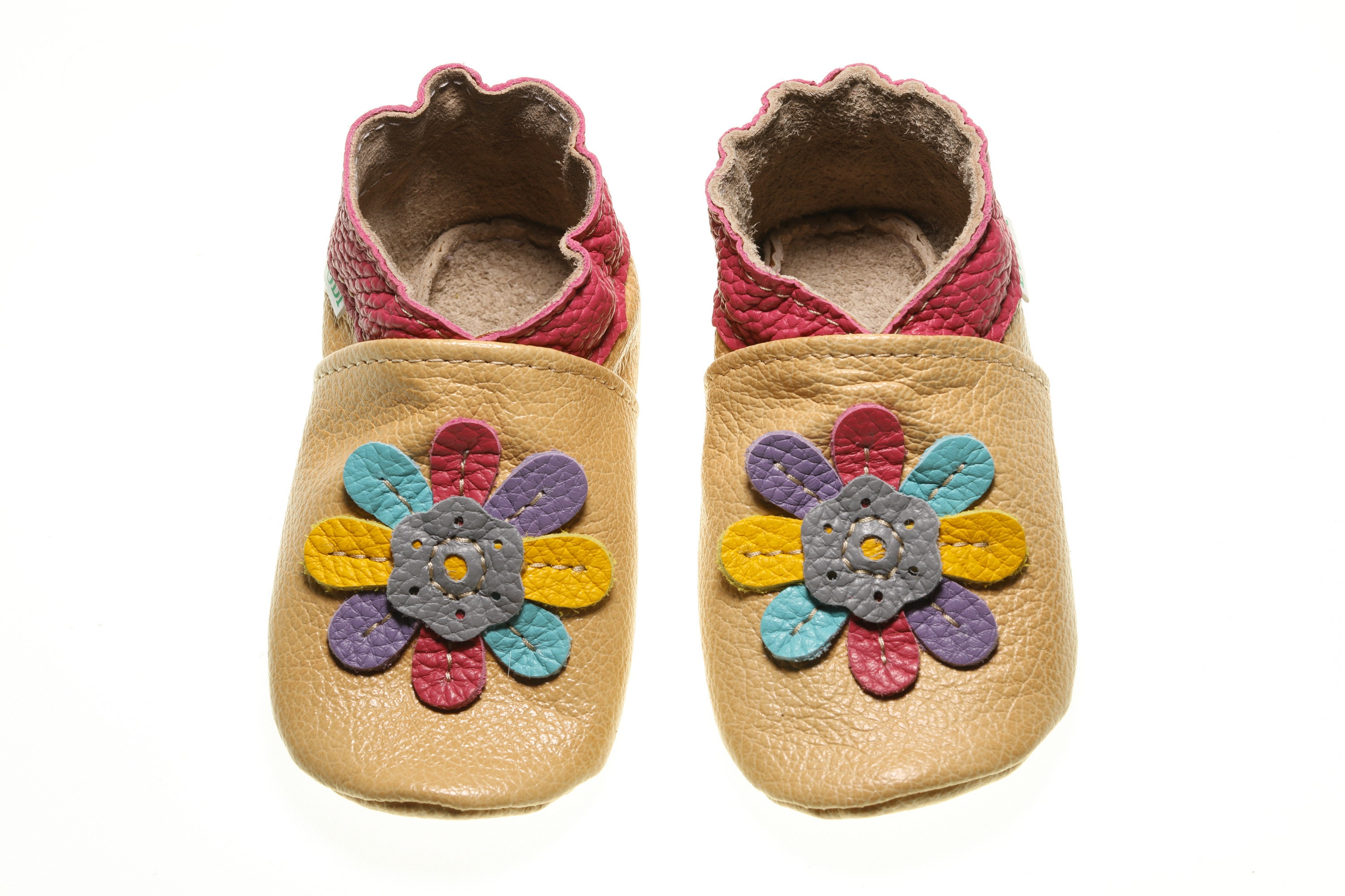 5bbb2578799ec Leather Baby Shoes, Soft Sole Baby Shoes, Baby Moccasins, Infant Shoes,  Toddler Slippers, Crib Shoes, Rainbow Flower, Shower Gifts, Evtodi
