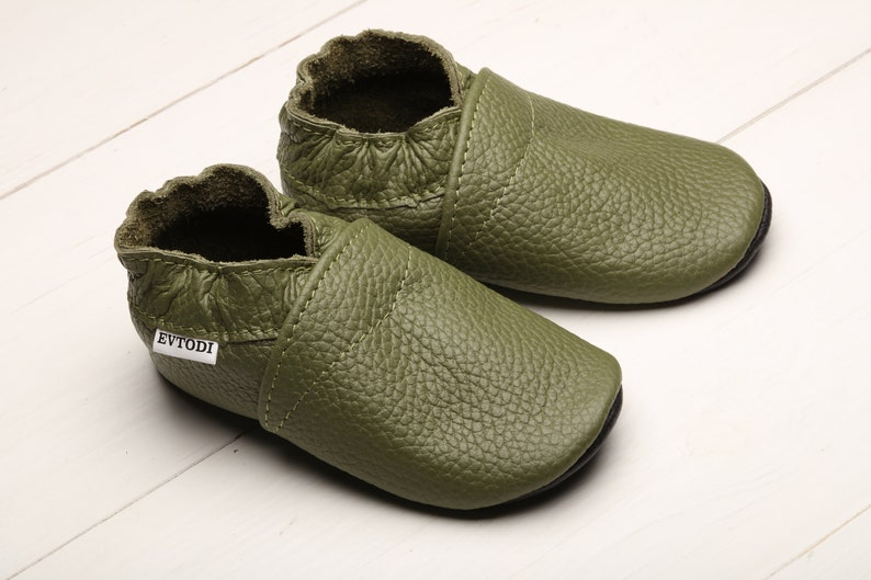 444696689755c Olive Green, Baby Shoes, Leather Baby Shoes, Soft Sole Baby Shoes, Infant  Shoes, Toddler Shoes, Baby Moccasins, Newborn Shoes, Unisex,Evtodi