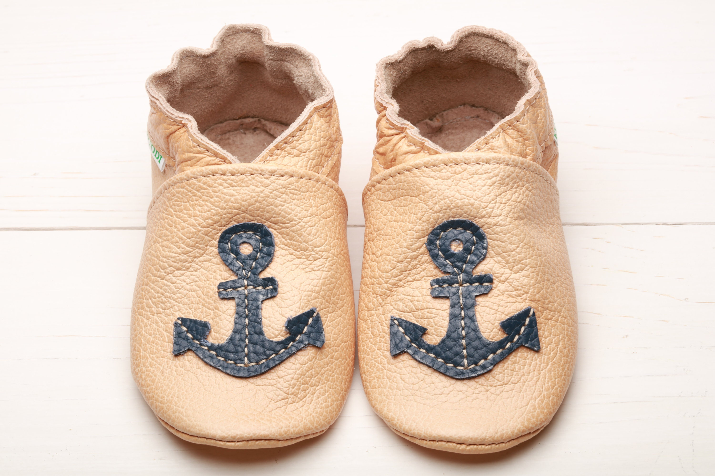 38d105e0a1332 Nautical Baby Shoes, Leather Baby Shoes, Soft Sole Kids Shoes, Boys', Baby  Moccasins, Girls', Infant Shoes, Baby Booties, Anchor Baby Shower