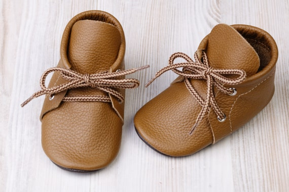 Caramel/Brown Baby Oxford Shoes Leather