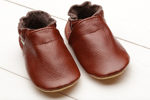 Brown Baby Shoes Leather Baby Moccasins