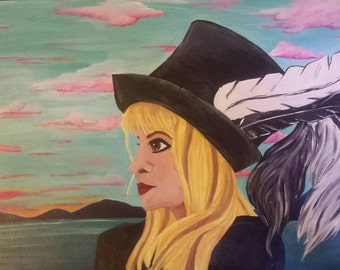 Stevie Nicks portrait print-first 3 purchases come framed!