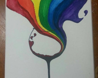 Rainbow wine trails