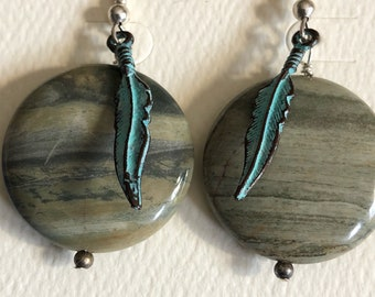 Feathers Floating in the Moonlight Earrings