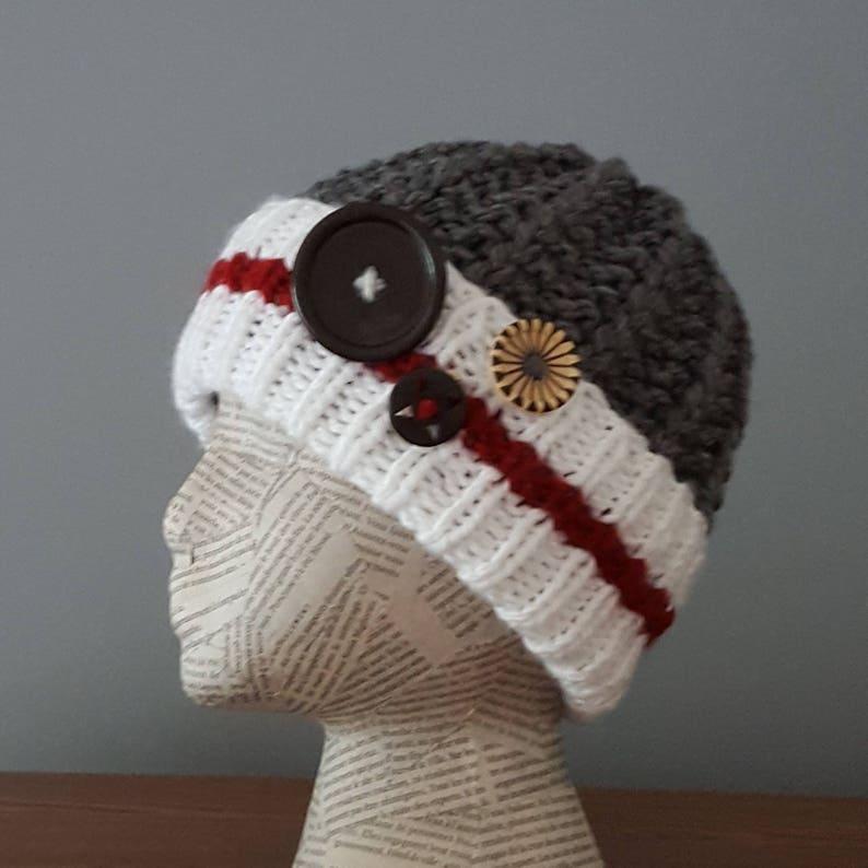 PATTERN beanie hat work sock hat pattern unisex monkey sock  e60a3c49f2f