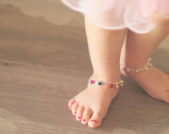 Baby Anklet Bell Bracelet in Gold or Silver | Ankle Bracelet | Boho Wedding | Girl's Jewelry | First Birthday | Toddler Gift First Christmas