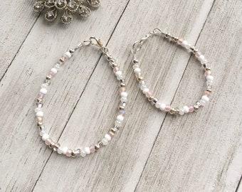 Aurora Confetti Bracelet | Little Girl Birthday | Flower Girl | Stacking Bracelet | Gifts for Big Sister | Mommy & Me