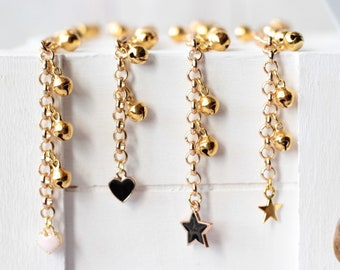 ADD A CHARM - GOLD, Baby Bell Anklet, Baby Girl Gift, Gifts under 25, First Birthday Gift, Little Girl Jewelry, Charm Bracelet