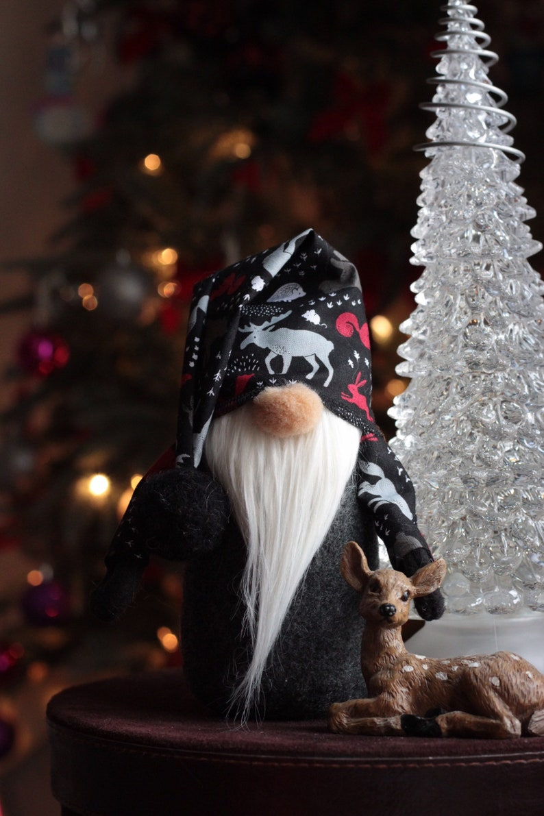 Gnome Woodland Tomte Adorable Holiday Gnome Free Shipping image 0