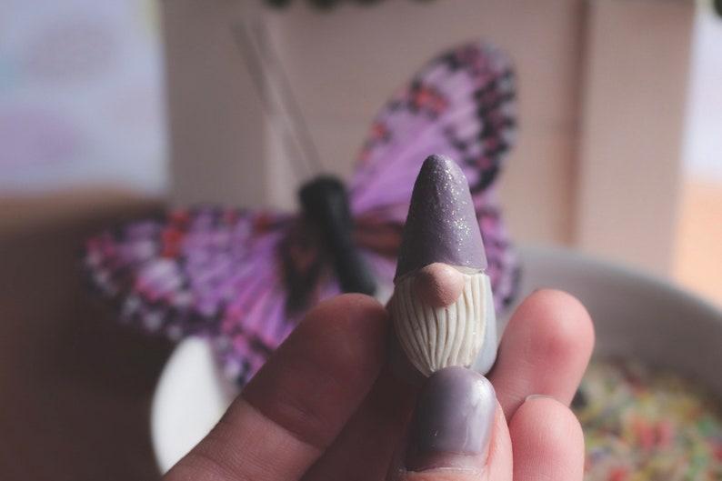 Gnome Miniature Art Woodland Gnome Fairy Village Tomte image 0