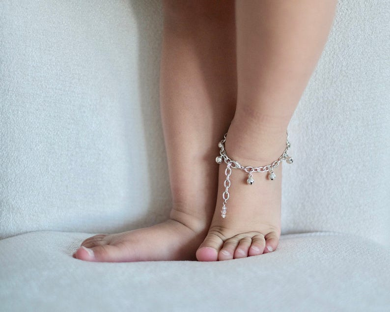 Baby Anklet with Bells  Silver Jingle Bell Bracelet First image 0