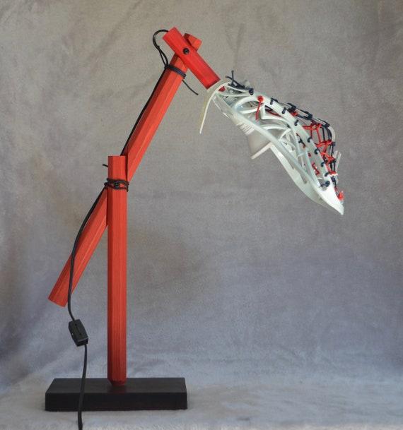 LaxLight Royal//red Lacrosse Bedroom lamp