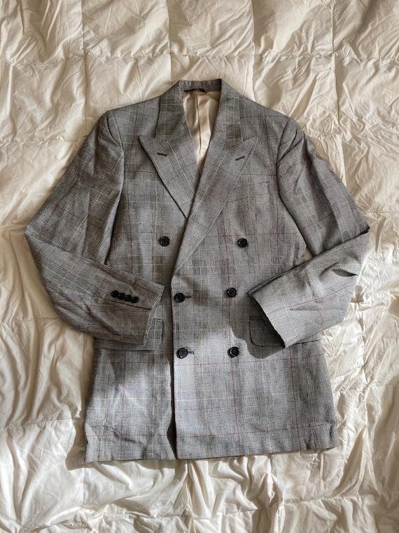 70s 80s 90s bright yellow bowling jacket coat blazer