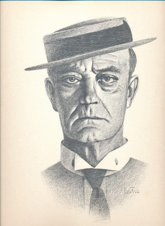 Buster Keaton Ready to Frame Pencil Drawing Print by Bill | Etsy