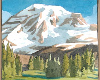 Mount Rainier National Park Travel Poster/Postcard