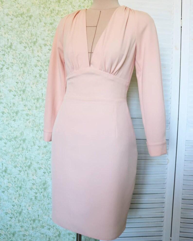 a220c36995a9 Peach color dress peach case dress base case dress | Etsy