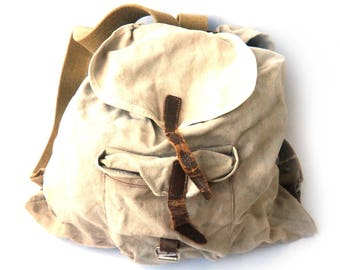 b528d485b6 Military Backpack Canvas Backpack Army Backpack Mens Backpack Rucksack  Backpack Men Canvas Military Old Army Backpack Army Bag Military Bag