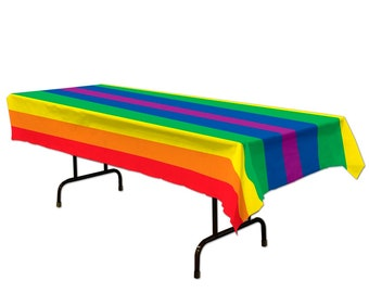 Plastic Rectangle Table Cover in BLACK - 54 inches x 108 inches 137 cm x 274 cm 1 Count Rainbow Tablecover Par