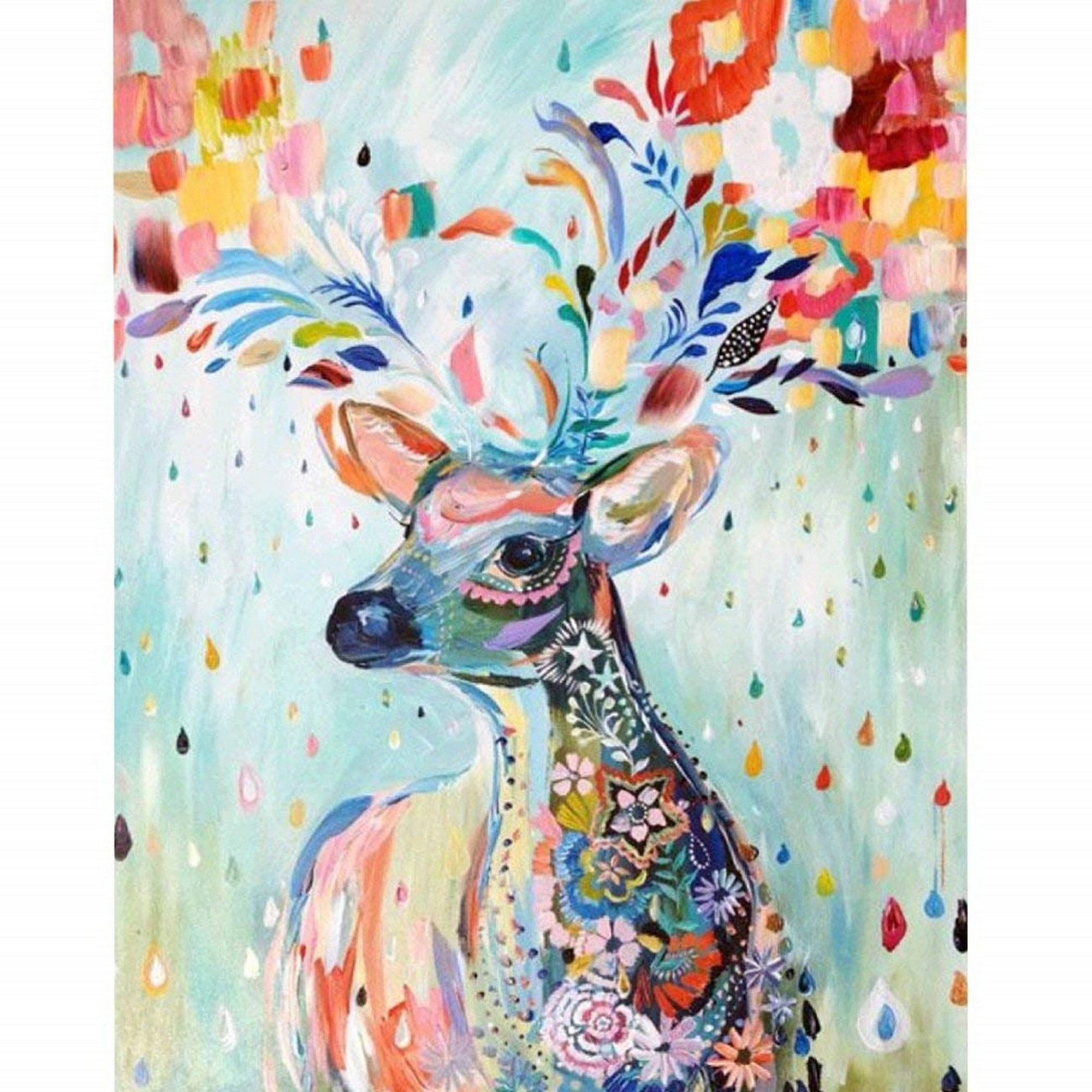 Full Diamond Animal Trees House Embroidery Rhinestone Cross Stitch Arts Craft Supply for Home Wall Decor DIY 5D Diamond Painting Kit