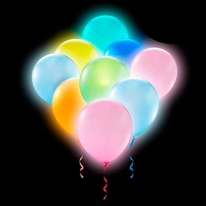 LED LIGHT UP BALLOONS 11 INCH 24HR GLOW  PARTY WEDDING BIRTHDAYS MANY SIZE PACKS