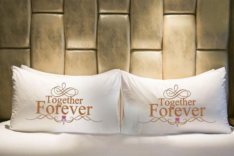 Valentine/'s Day Gift Teen Gift Fun Pillowcase Together Forever Pillowcase LOVE Pillowcase Teen Bedding Novelty Pillowcase