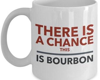 Bourbon White Ceramic 11 oz. Mug, Beer, Wine, Liqour Mug, Bourbon Lover, Gift for Him, Father's Day Gift