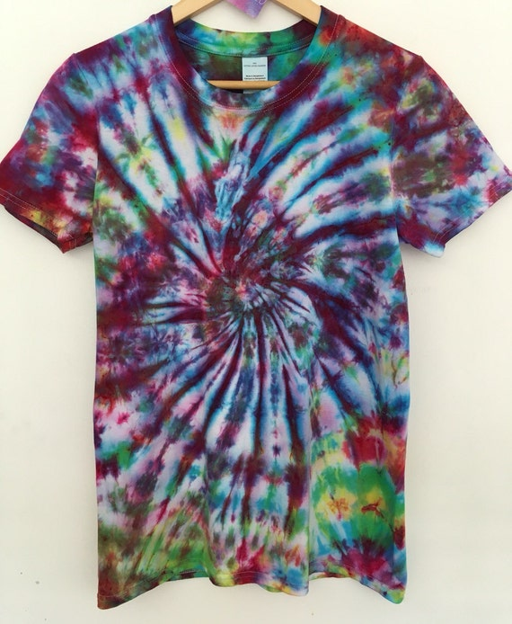 Multicolore Dye lumineux Tie Dye Multicolore T-shirt unisexe Tee confortable c1eb1c
