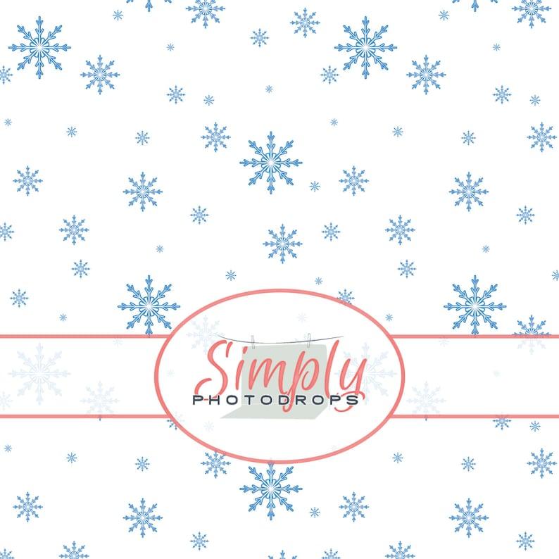 Photography Backdrop  Simplyphotodrops Premium Vinyl Backdrops Vinyl Backdrop,SIMPLE SNOWFLAKES