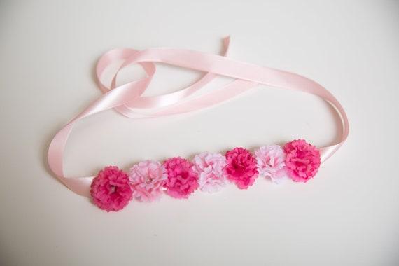 Zweifarbig rosa Blume Bun wickeln Tanz Haarteil | Etsy