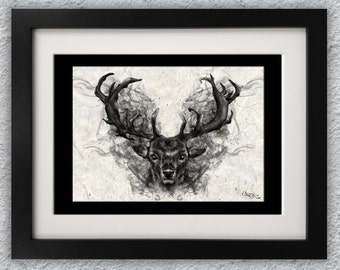 Red Stag Print