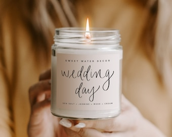 Wedding Day Candle   The Day Of Soy Candle   Bride Candle   Bride To Be Gift   Engagement Gift   Wedding Planner Gift   Pink Wedding Candle