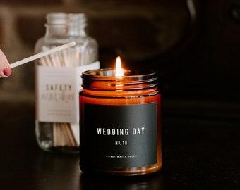 Wedding Day Candle Etsy