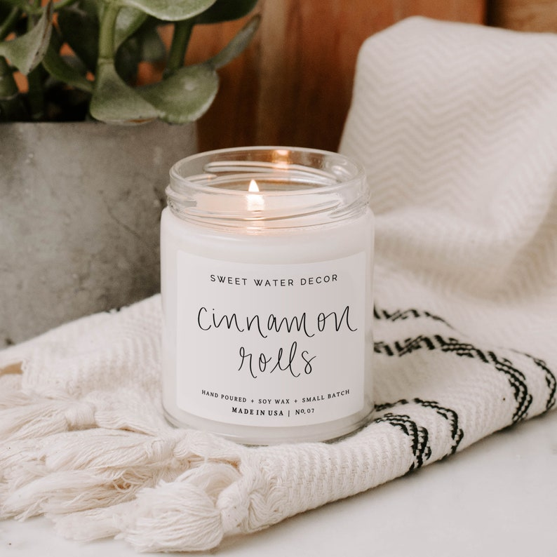 Cinnamon Rolls Soy Candle  Cinnamon Bun Scented Candles  image 0