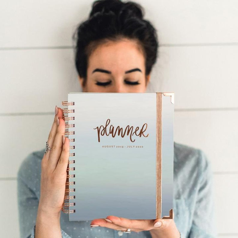 Iridescent and Rose Gold Daily Academic Planner 2019-2020  image 0