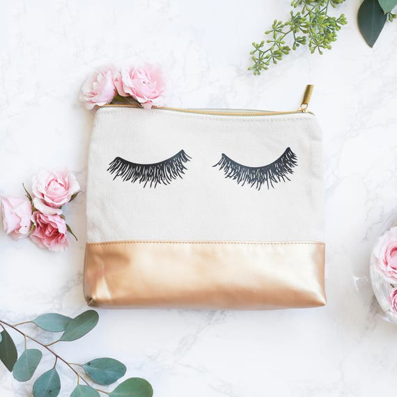 Eyelash Leather Makeup Bag Small Leather Pouch Leather   Etsy e28a5465c7