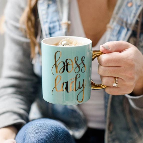 Mint Boss Lady Mug  Boss Lady Coffee Mug  Girl Boss Mugs