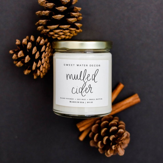 Mulled Cider Candle Fall Jar Candle Fall Candles Etsy