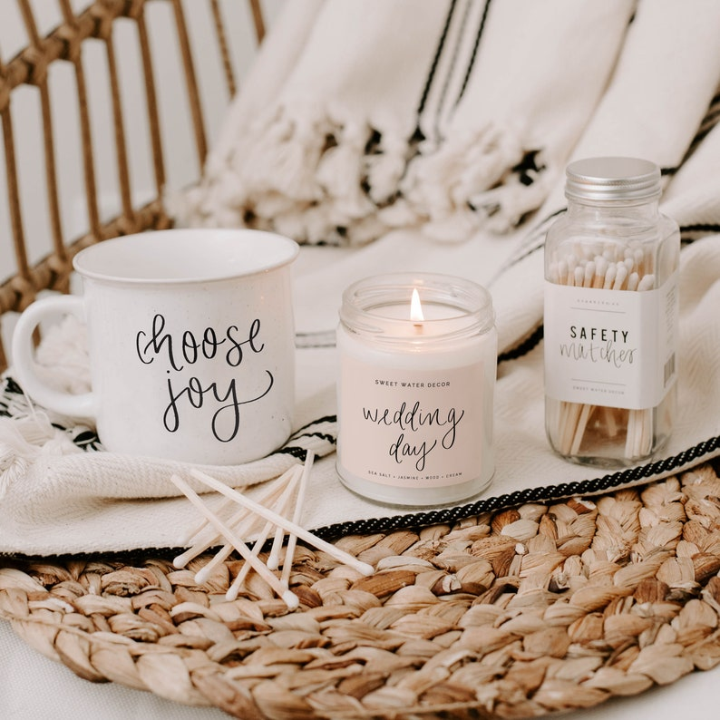 Wedding Day Candle  The Day Of Soy Candle  Bride Candle  image 0