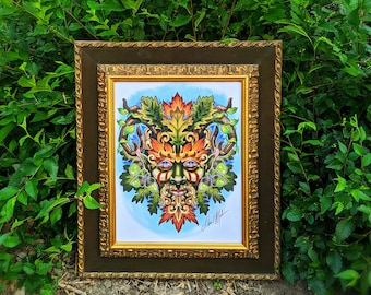 Green Man of Garden Woods 11'' by 14'' High Quality Print