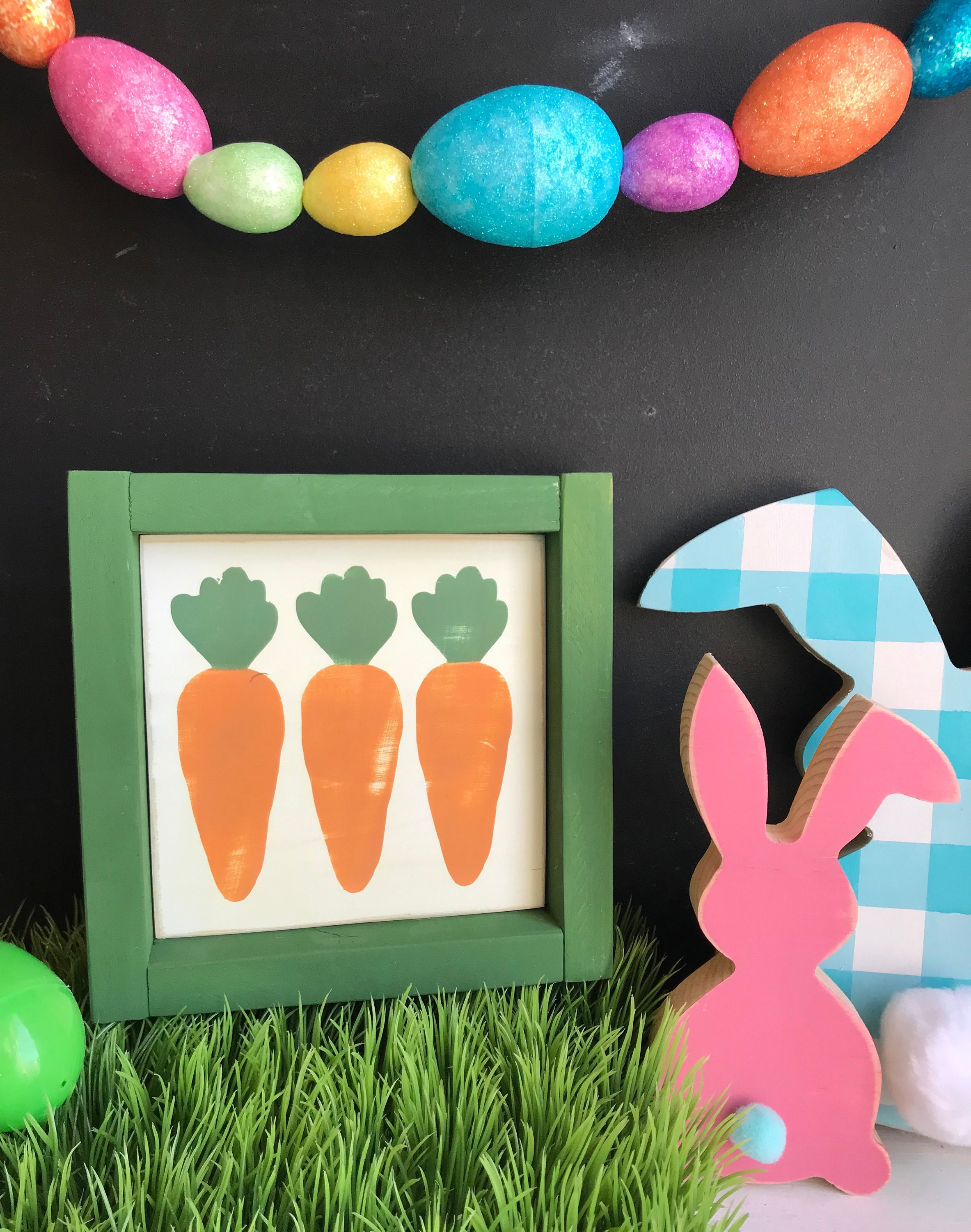Peter Cottontail Framed Mini Sign Easter D\u00e9cor Tiered Tray D\u00e9cor Happy Spring Easter Mini Signs 4 x 4 Tiered Tray Signs