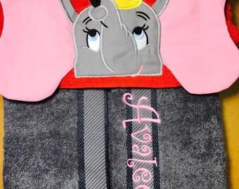 "Personalised Hooded Towel  ""Dumbo""  add name FREE"