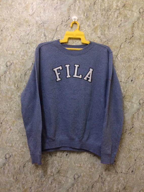 dec9a1b45716 Vintage Fila Winter Shirt Hip Hop Spell Out Sweatshirt Big