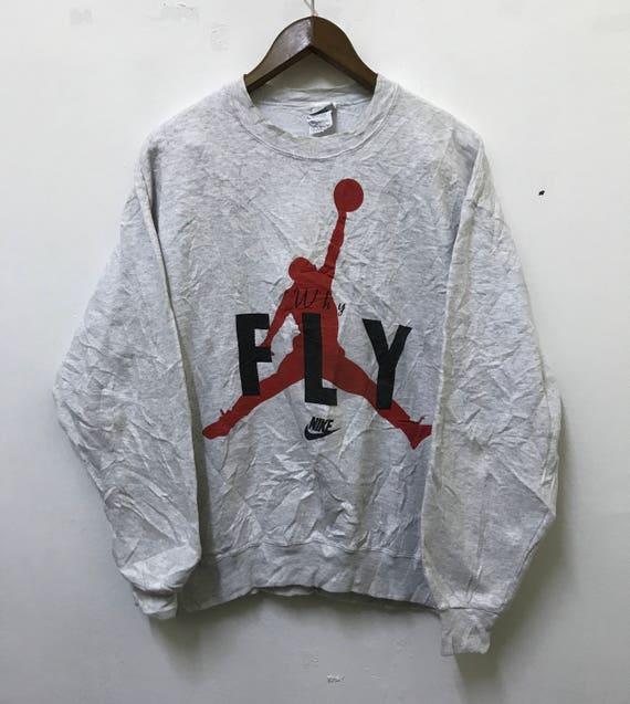 b9fe8006a65 Vintage Nike Sweatshirt Michael Jordan Air Jordan Hip Hop | Etsy