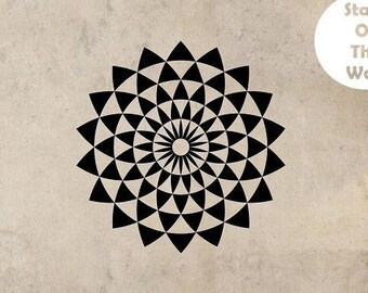 Geometric Wall Decal ILLUSION Sticker Art Decor Bedroom Design Mural interior design Buddha sacred geometry