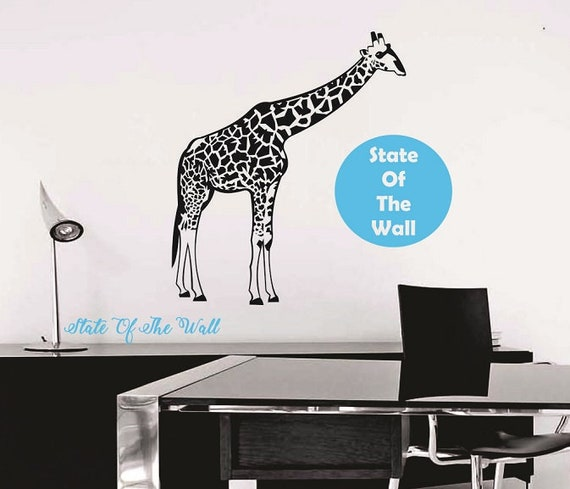 Giraffe Wall Decal Vinyl Sticker Art Decor Bedroom Design Mural Interior Design Animals Kids Bedroom
