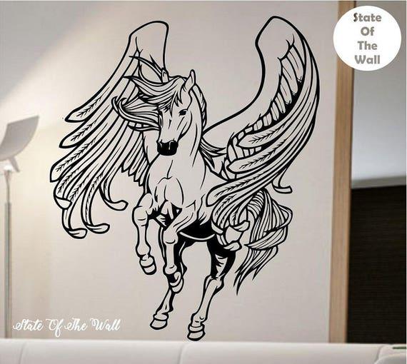 Horse Jockey Wall Decal Sticker Art Decor Bedroom Design Mural Horse Riding peace love vinyl race animals