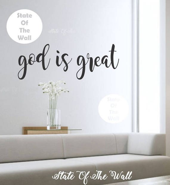 god is great wall decal Bible verse Vinyl Sticker Design | Etsy