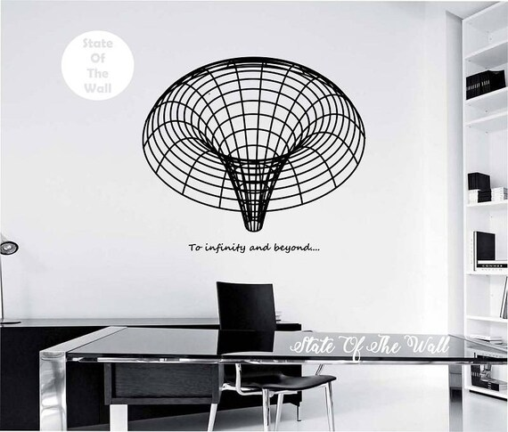 black hole wall decal to infinity & beyond design mural | etsy
